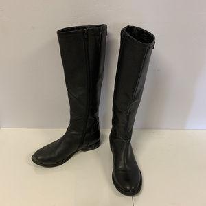 Black Low Heel Riding Boots